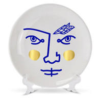 Estilo europeu abstração rosto humano placa de cerâmica criativa sala estar tv gabinete decoração artesanato a1704