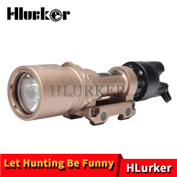 Hlurker Hunting Airsoft Rifle Weapon Light 500 Lumens LED Scout Light Tactical Flashlight With Switch Line For Shooting Lighting