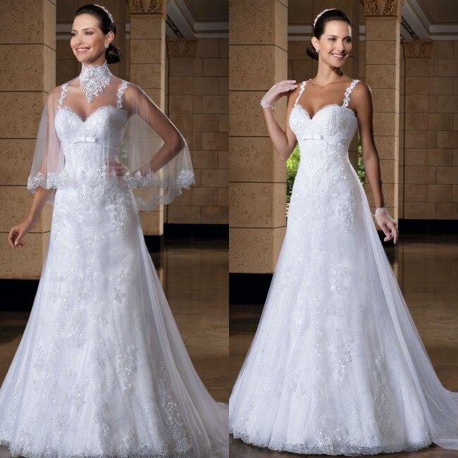 Vestido de noiva vestido de casamento lace appliqued romantic 2016 robe de mariage bridal gown mother of the bride dresses
