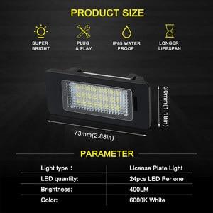 Image 5 - 2 PCS License Plate Light  Led Number Plate Holder Lamp No Error For BMW E39 E60 E60N E61 E90 E91 E90N E92 E93 E46 CSL E82