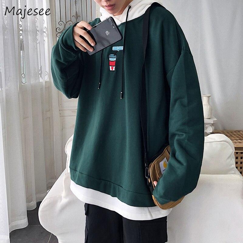 Hoodie Men Sweatshirt Autumn Printing Clothes Plus Size Warm Thicker Korean Mens Hoodies Fashion Streeetwear Males Hot Sale Soft