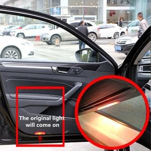 Image 5 - LED רכב דלת באדיבות אורות מקרן מנורת דקור גאדג טים עבור פולקסווגן פאסאט B6 B7 B8 B9 CC גולף 5 6 7 Tiguan R קו 2005 2020 2019