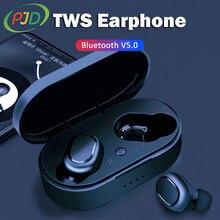 PJD bezprzewodowe słuchawki Bluetooth bezprzewodowe słuchawki douszne TWS słuchawki Stereo sportowe słuchawki z redukcją szumów dla Xiaomi xiomi iPhone