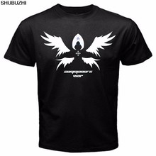 Archangel Summoner War Ariel Artamiel Velajuel Eladriel Tshirt Black Basic Tee Novelty O-Neck Tops sbz160(China)