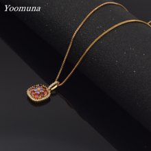 Fashion necklace big round choker Pendants for women cubic zircon  Vintage Crystal Necklace For Women Jewelry