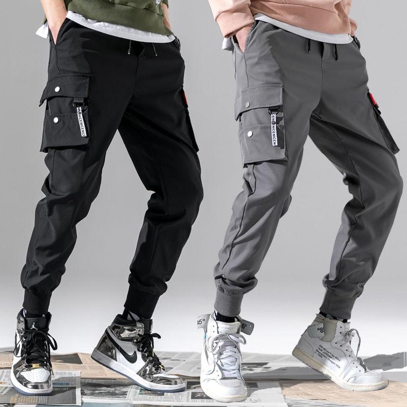 Cargo Pants Men Vintage 2020 Fashion Male Hip Hop  Black Grey Pockets Joggers Pants Man Safari Style Sweatpants Overalls 5XL