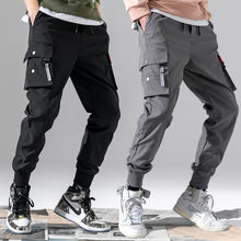 Cargo Pants Men Vintage 2020 Fashion Male Hip hop  Black Grey Pockets Joggers Pants Man Safari Style Sweatpants Overalls 5XL