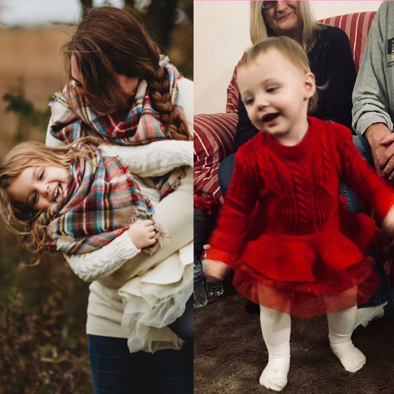 H32d2059d83ce4c07a942c0aadca841611 Xmas Winter Autumn Girl Dress Children Clothes Kids Dresses For Girls Party Dress Long Sleeve Knitted Sweater Toddler Girl Dress