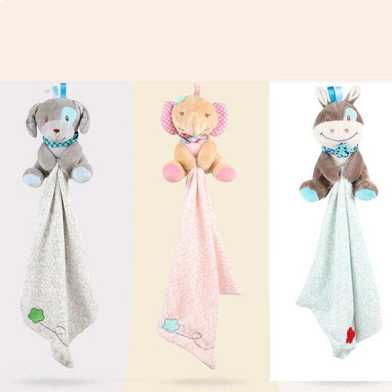 29.5x29.5cm nouveau-né bébé serviettes enfant en bas âge infantile préféré doux coton apaiser serviette jouet calme poupées dentition développement