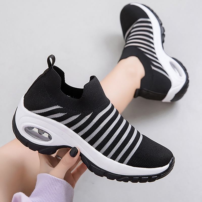 Shoes Woman Sports Shoes Woman Sock Slip-on Wear Resistant Running Shoes Female Tennis Cozy Sneakers Platform