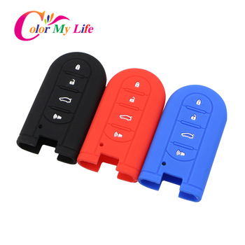 Silicone Car Key Holder Cover Car Key Case Fit for Perodua Kelisa Kancil Kenari Alza Viva Myvi Daihatsu Mira 4 Button Key Cases image