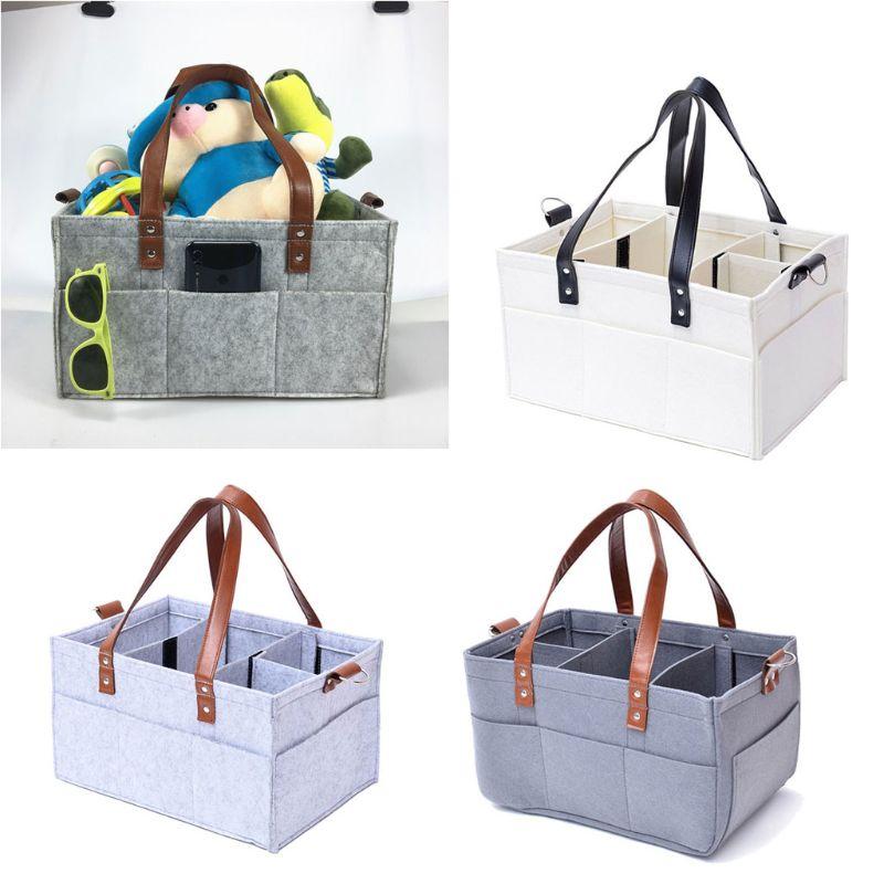 High Capacity Layered Storage Nappy Caddy Organiser Baby Box Storage Portable Car Organizer Newborn Essentials Baby Mummy Bag