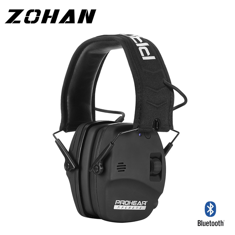 Electronic Bluetooth Shooting Ear Protection Sound Amplification Noise Reduction Ear Muffs Professional Hunting Ear Defender NRR