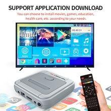 Hd 4k tv vídeo game super console x-pro para ps1/n64/dc 50 + emuladores 50000 + jogos 256gb s905x cpu jogador de jogo