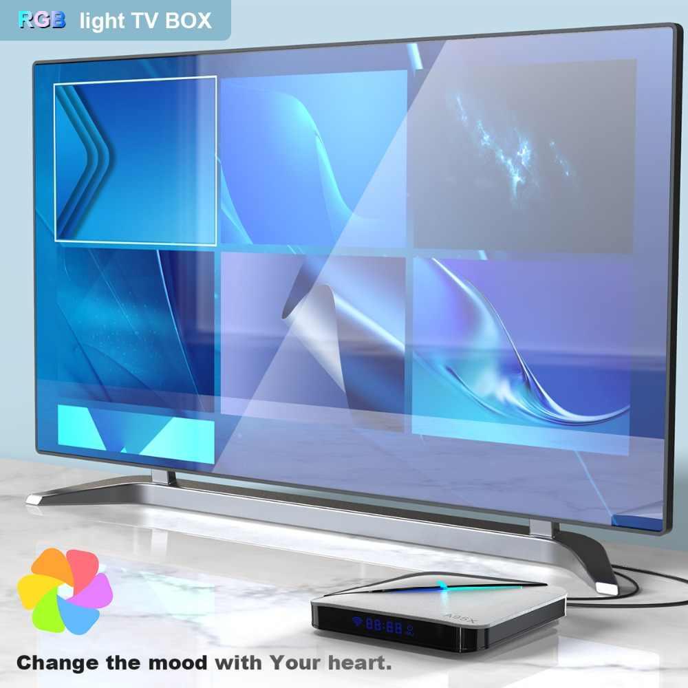 A95XF3 Air RGB Licht TV Box Android 9,0 4GB 64GB Amlogic S905X3 Box 8K HD 2.4/5G Wifi Netflix Media Server Android Tv Box