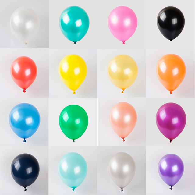 10/20/30pcs 10inch mix Colorful Pearl Gold White Latex Balloon Wedding Birthday Party Decoration child Kids Toy Air balloons