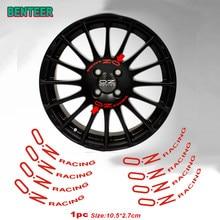 8 adesivos de roda de carro dos pces para a corrida de oz