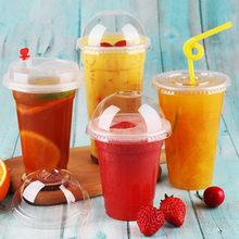 Copos de plástico descartáveis para bebidas, copos de chá leite bebidas, saco de bebida personalizado, 100 pc/pacote