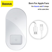 Baseus 2 In 1 Qi Draadloze Oplader Voor Iphone X Xs Max Xr Airpods Quick Charge 3.0 Draadloos Opladen Pad snelle Oplader Voor Samsung(China)