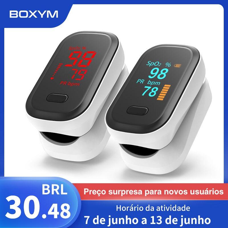 BOXYM Medical Portable Finger Pulse Oximeter blood oxygen Heart Rate Saturation Meter OLED Oximetro de dedo Saturometro Monitor    - AliExpress
