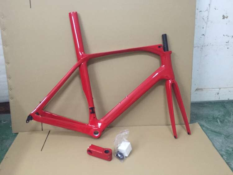 New Style Highway-Breaking Wind Carbon Highway Support Carbon Fiber Frame Red Classic Customizable Logo
