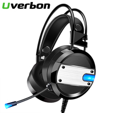 Wired Headphones Volume-Control E-Sport New-Gaming-Headset Noise Canceling with for PC