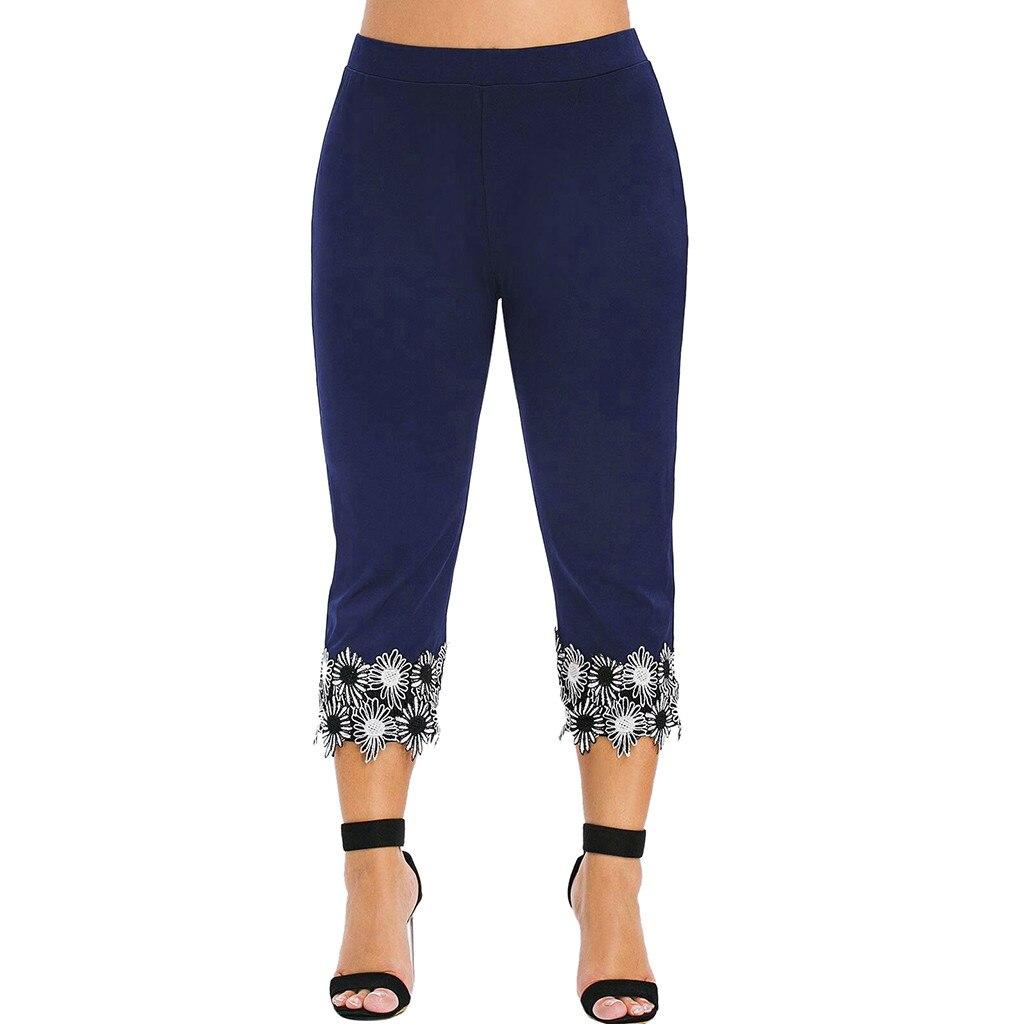Plus Size Women   Pants   Elastic High Waist Trousers Women   Pants   Patchwork   Capris   Sweatpants Joggers Fashion Casual Women Clothes