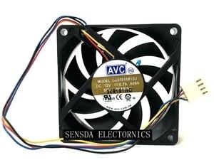 70 мм компьютер процессор вентилятор оригинальный DA07015B12U DE07015B12U 7 см 70 мм вентилятор 12 В 0.70A 4-P компьютер pwm шасси для AMD cpu вентилятор охлаждени...