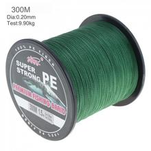 Fishing Line 300m Green Super Strong Fishing Line 4 Strands Weaves PE Braided Fishing Rope Multifilament 300m fishing line braided line smooth multifilament 4 strands pe fishing line for saltwater fishing