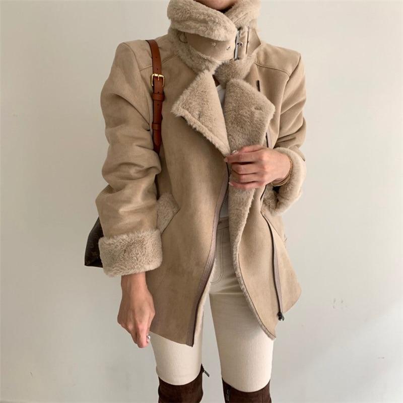Шикарное зимнее шерстяное пальто для дам элегантное с воротником