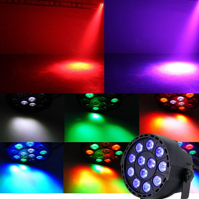 LED Par 12x3W RGBW LED Stage Licht Par Licht Met DMX512 Voor Disco DJ Projector Machine Party Decoratie F&G Podium Verlichtin