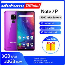 Ulefone Note 7P Smartphone Android 9.0 Quad Core 3500 Mah 6.1 Inch Waterdrop Screen 3 Gb + 32 Gb mobiele Telefoon(China)