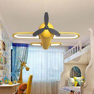 Modern led chandeliers light airplane blue yellow lights for children room kids baby boys lighting home chandelier lamp(China)