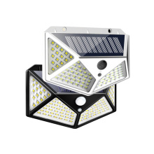 цена на New 100 LED Solar Light Outdoor Solar Lamps PIR Motion Sensor Wall Light Waterproof Solar Sunlight Powered Garden Street Lights