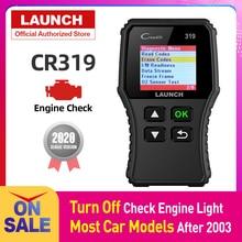 Launch lector de códigos de coche Creader 319 OBD2, OBDII, OBD 2, herramienta de escaneo, comprobación de código de fallas de motor, lectura cr319, CR3001, Creader 3001