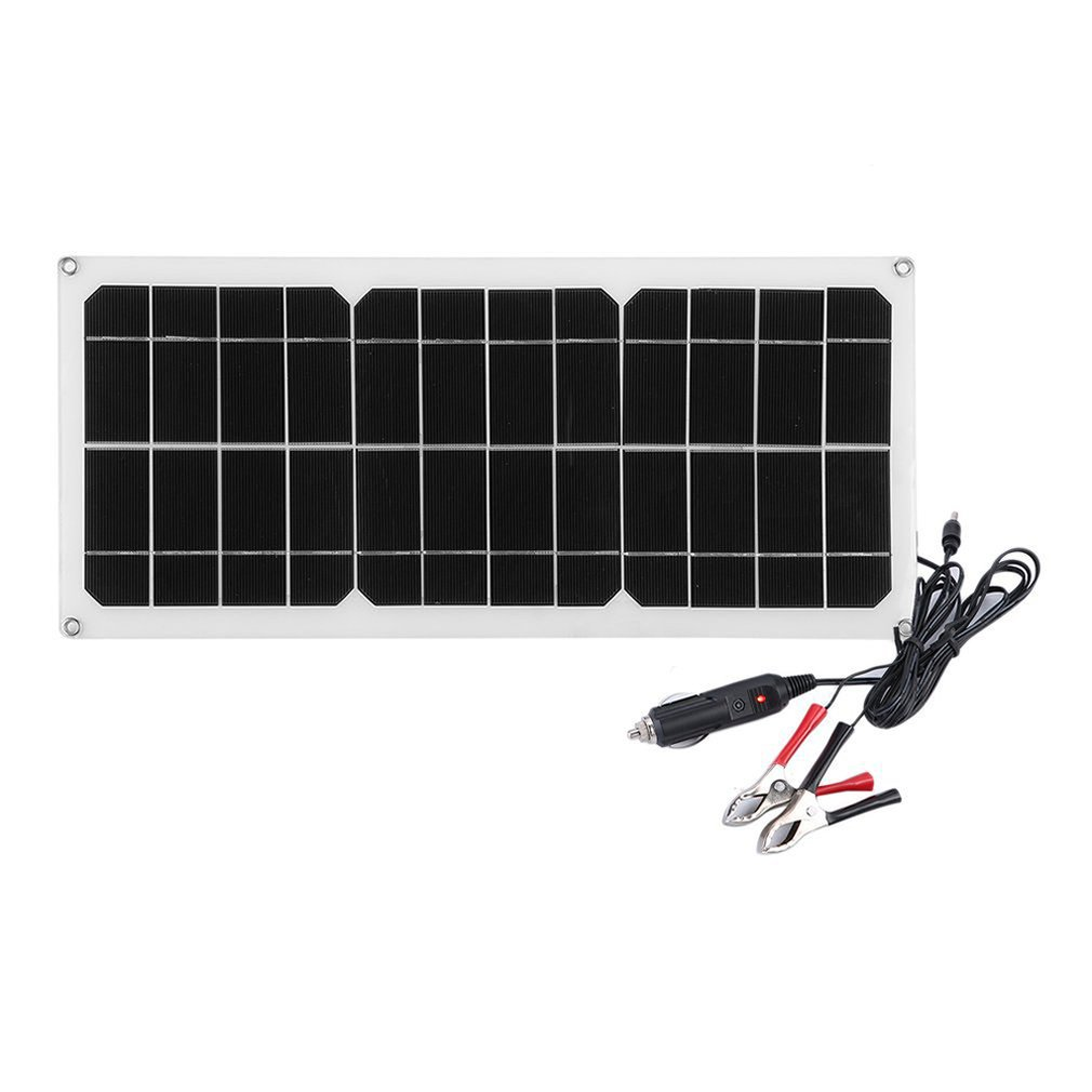 Ultra Thin Outdoor Solar Charging Device Portable 10W Monocrystalline Solar Panel Flexible Camping Power Supply