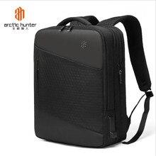 ArcticHunter 15.6 inç Laptop sırt çantası erkekler için su geçirmez fonksiyonel sırt çantası ile USB şarj portu seyahat sırt çantaları satış