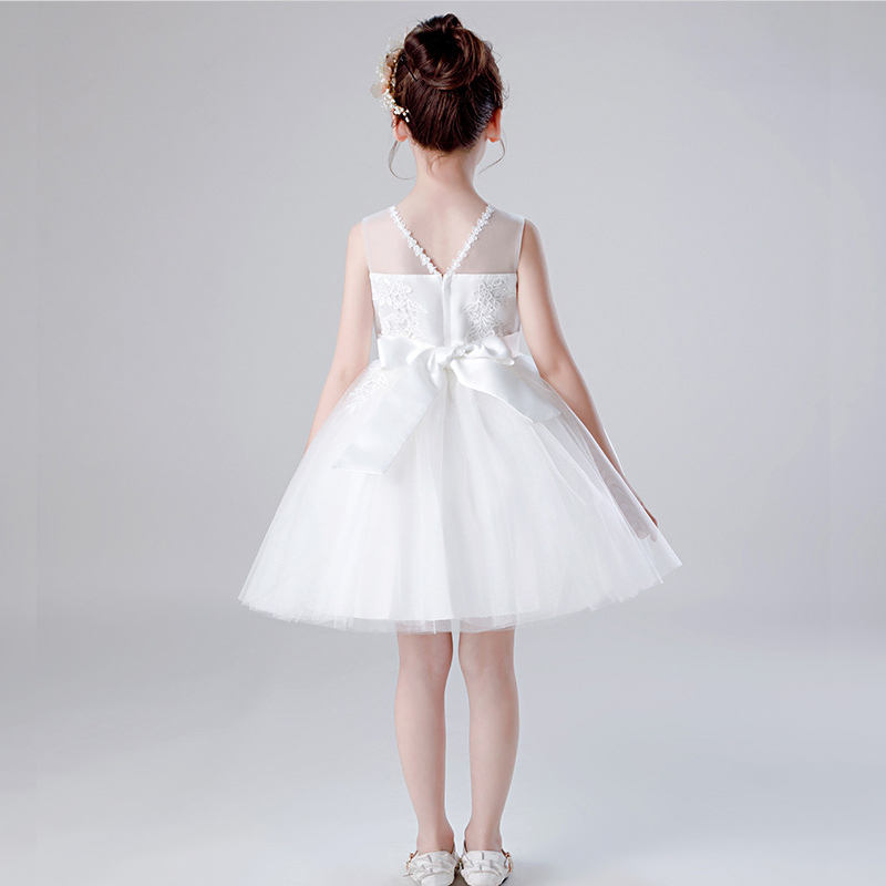 Skyyue Pageant Dress Embroidery Tulle Flower Girl Dress for Wedding N Kid Party Girls First Holy Communion Dress 2019 BX1715 in Flower Girl Dresses from Weddings Events