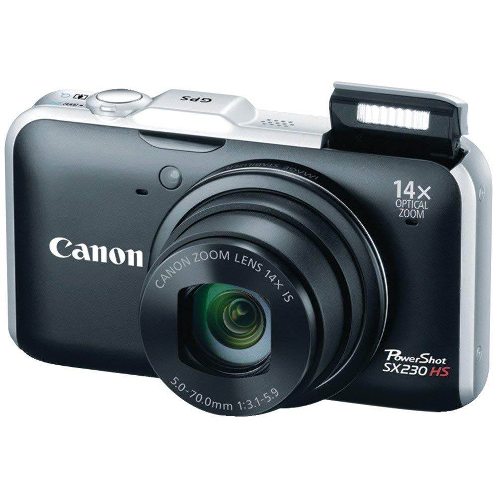 USED Canon PowerShot SX230 HS 12.1 MP CMOS Digital Camera with 14x Image Stabilized Zoom 28mm Wide-Angle Lens and 1080p Full-HD image