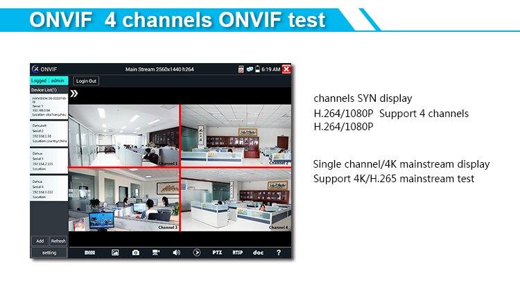 Tester CCTV X9ADH X9MOVTADHS 8 touch screen