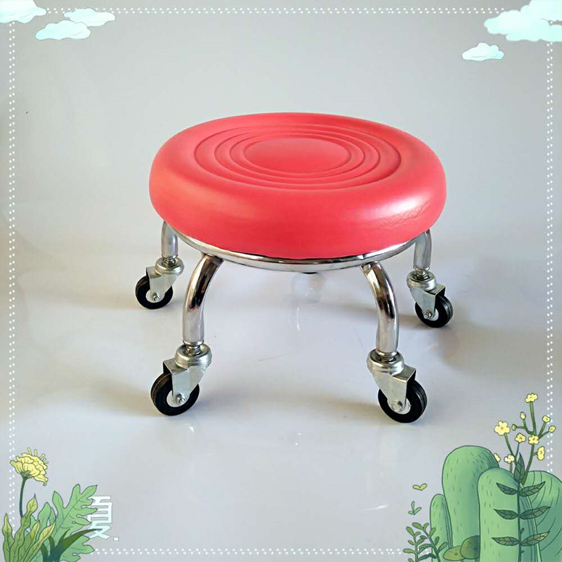 Pulley Stool Beauty Sewing Construction Stool Round Bench Stool With Doll Stool Child Toddler Stool Pulley Stool Squat Stool