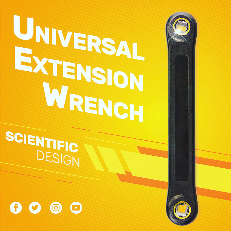 Mintiml™ Universal Extension Wrench Automotive DIY 3/8