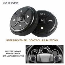 Volant de voiture sans fil 10 touches bouton de commande pour autoradio DVD MP5 GPS multimédia Navigation lecteur tête unité à distance