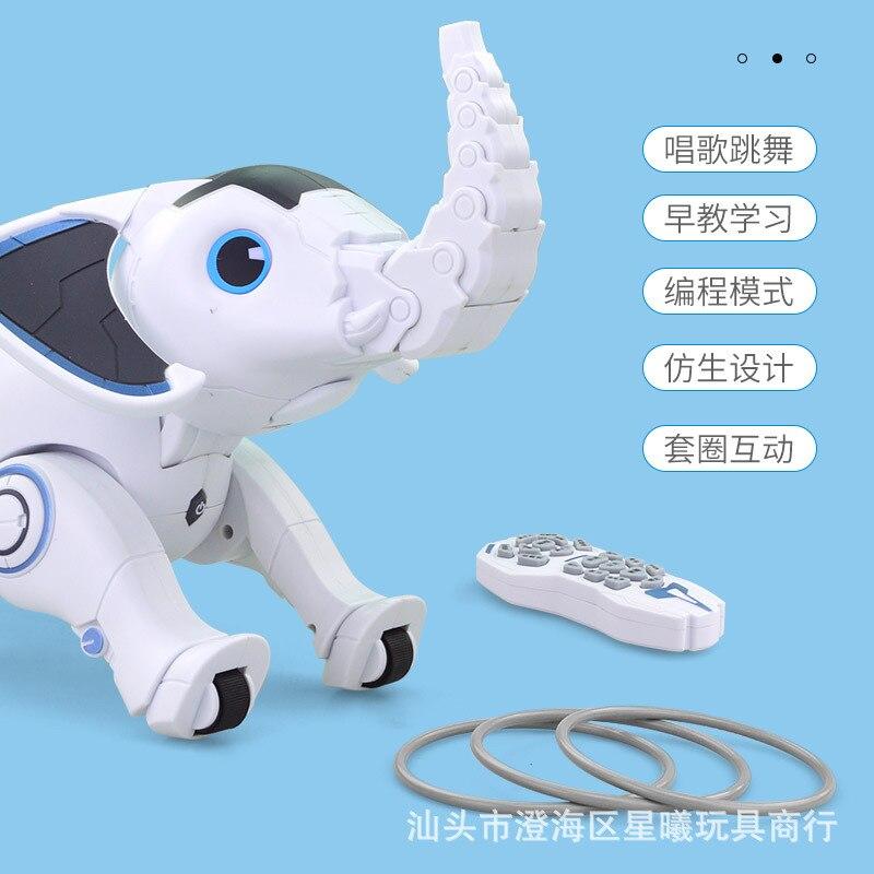Leneng K17 programmation intelligente éléphant enfants éducatifs petite enfance bionique éléphant anneaux intelligents jouets pour animaux de compagnie - 2