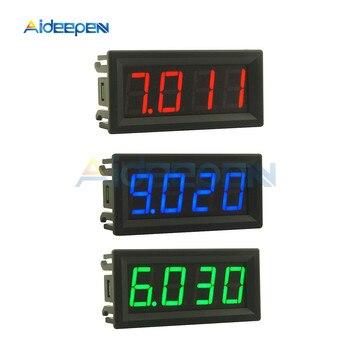 Mini medidor de voltaje con ajuste fino, tres decimales, voltímetro de 0,56 pulgadas, CC 0-100V, 4 bits, pantalla LED, Panel Digital, voltímetro, Detector, herramientas de control 1
