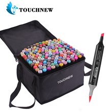 TouchNEW 12/30/40/60 /80/168 marcadores de colores Manga dibujo marcadores pluma dibujo de Punta doble cepillo pluma pincel de suministros de arte