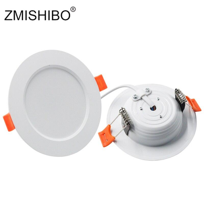 ZMISHIBO LED oprawy wpuszczane sufitowe lampa punktowa 3000 K/4000 K/6000 K 3W 5W 7W 9W 12W 15W 18W 220V salon lampa kuchenna