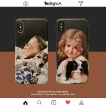Oil painting boy girl case for coque iphone 8 7 6 6s x xr xs cases matte silicone soft dog cover plus 7plus funda