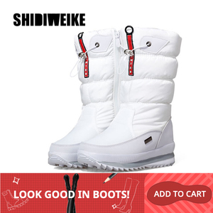 Image 3 - Classic Women Winter Boots Mid Calf Snow Boots Female Warm Fur Plush Insole High Quality Botas Mujer Size 36 40 n544