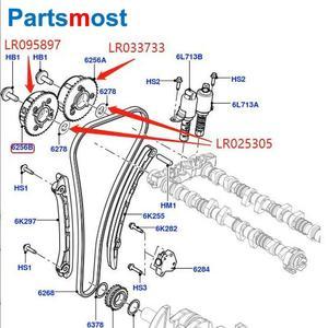 Image 5 - VVT Intake Exhaust Camshaft Sprocket Actuator for LAND ROVER LR2 Evoque Discovery Sport Jaguar LR095897 033733 CJ5E6C524AE 525AE